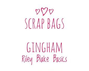 RBD Gingham fabric Scrap bag