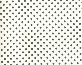 Little Snippets Charcoal Cream Dot by Bonnie & Camille for Moda Fabrics (55185 26)