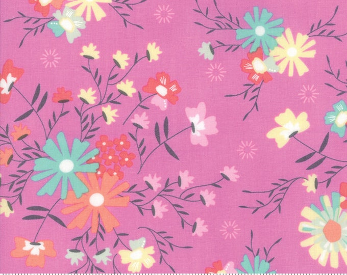 Sunnyside Up Floral Sugar Creek Kismet(Purple) by Corey Yoder (Little Miss Shabby) for Moda (29051 18)