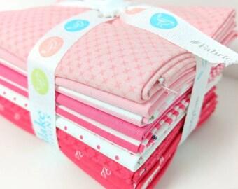 Pink and Raspberry FQ Bundle - 8 Fat Quarters