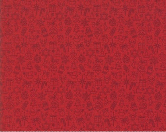 Kringle Claus - Traditions - Berry - (30597 15) - BasicGrey Kringle Claus for Moda Fabrics - Cotton Quilting Fabric - Kringle Klaus
