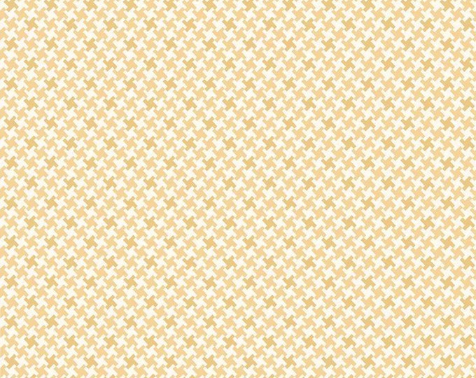 Farm Girl Vintage Houndstooth Honey by Lori Holt fabric (Bee in My Bonnet) (C7882-HONEY)