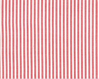 Bonnie and Camille Wovens Red Stripe for Moda Fabrics  (12405 20) - Red Stripe Fabric - Woven Fabric