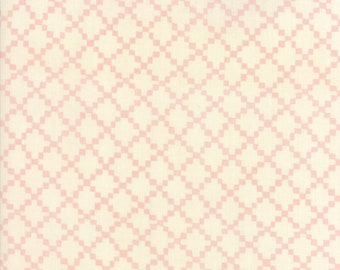 Freya Friends Rose Yardage by Janet Clare for Moda Fabrics (1446 13) Pink Print Fabric