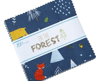 """In The Forest 5"""" Stacker (42 pieces) by Riley Blake Designs (5-8950-42) - Charm Pack - Boy Fabric"""