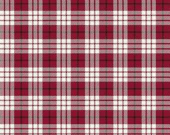 Winterberry - Red Plaid - My Mind's Eye - Riley Blake Designs - Christmas Fabric - Cut Options Available (C8444 RED)