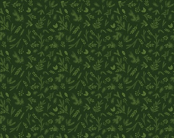 Christmas Delivery Sprigs Green C7334-Green by Carta Bella
