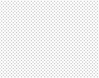 Swiss Dot On White Steel  (C660-Steel) by Riley Blake Designs