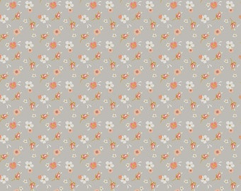 Golden Days Gray Floral by Fancy Pants Design for Riley Blake Designs (C8601-GRAY) - Cut Options Available