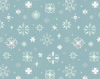 Way Up North Blue Snowflakes by Jill Howarth for Riley Blake Designs  (C7324-BLUE)  - Christmas Fabric - SALE