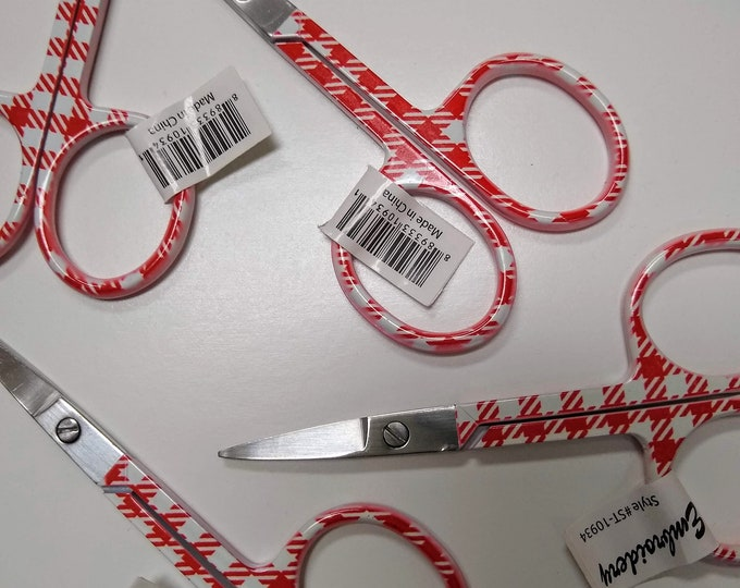 Lori Holt Embroidery Scissors  3.5 inches - Red Gingham