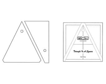 "Bloc-Loc - Triangle in A Square 6"" x 6"" - Quilting Tool"