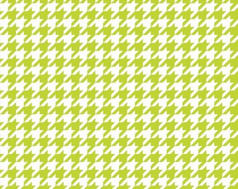 Houndstooth in Lime (C970-32) - Fat Quarter - Lime Green Houndstooth