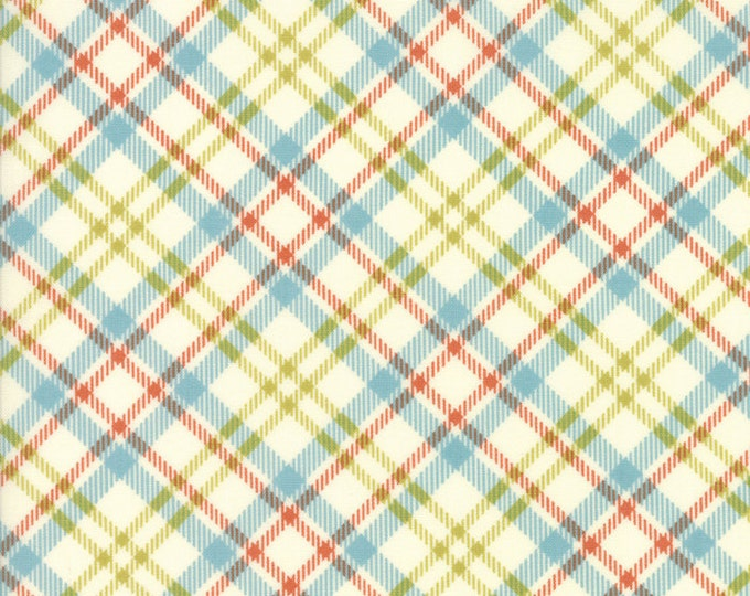 "Treehouse Club (5635 22) Picnic Plaid Vanilla Splash by Sweetwater - 28"" remnant"