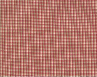 Northport Silky Wovens Red Tan Plaid by Minick & Simpson for Moda Fabrics  (12215 34) - Plaid Fabric