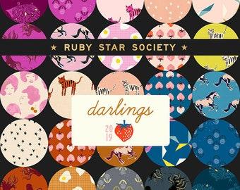 Half Yard Bundle Darlings by Ruby Star Society - Modern Fabric Bundle - Moda Fabrics - 32 fabrics - PREORDER