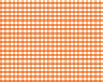 Riley Blake Designs, Medium Gingham in Orange (C450 60)