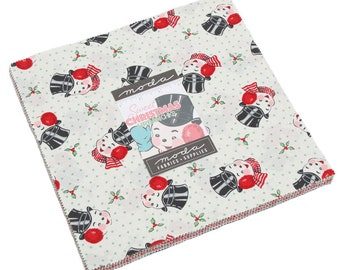 "Sweet Christmas (31150LC) by Urban Chiks - Layer Cake - Moda Fabrics - Urban Chiks Sweet Christmas Layer Cake - Precut Fabric - 10"" square"