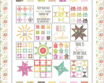 Sunnyside Up Quilt Kit using Pattern #136, Sunny Sampler by Corey Yoder (Little Miss Shabby) (KIT 29050)