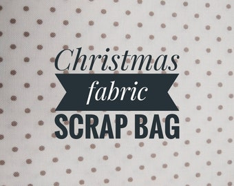 Christmas Fabric Scrap Bag