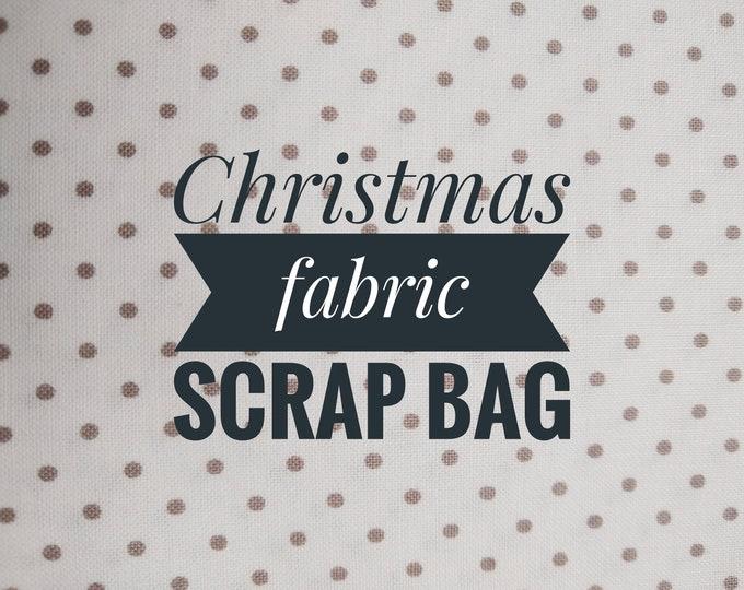 Christmas Fabric Scrap Bag