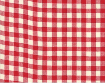 Picnic Basket Red Woven Small Check for Moda Fabrics (12134 12) - Red Woven Gingham Yardage