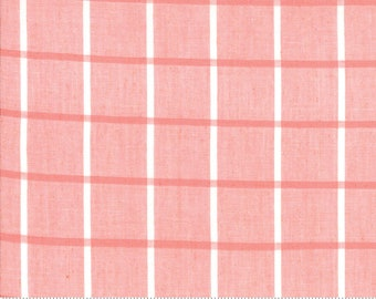 Bonnie and Camille Wovens Pink Windowpane for Moda Fabrics  (12405 21) - Pink Print Fabric - Woven Fabric