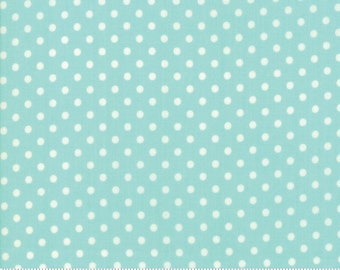 Little Snippets Aqua Dot by Bonnie & Camille for Moda Fabrics (55185 12)