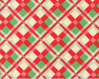 Swell Red Green Plaid by Urban Chiks for Moda Fabrics  (31122 11)  - Christmas Fabric - Cut Options Available!