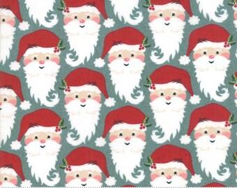 Kringle Claus - Kringle - Blue Spruce - (30592 17) - BasicGrey Kringle Claus for Moda Fabrics - Cotton Quilting Fabric - Kringle Klaus