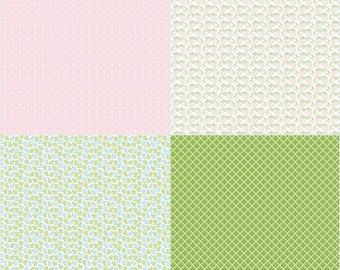 Sew Cherry 2 By Lori Holt Fat Quarter Panel Pink - SALE - Lori Holt Sew Cherry 2 - CLEARANCE fabric - (FQP5809-Pink)