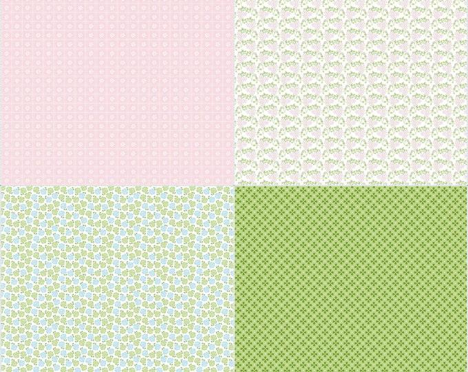 Sew Cherry 2 By Lori Holt Fat Quarter Panel Pink (FQP5809-Pink)