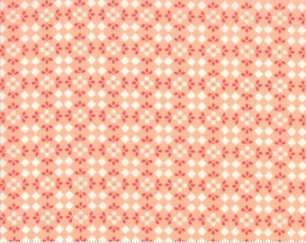 Harper's Garden Coral Mosaic by Sherri and Chelsi for Moda Fabrics (37575 14) Cut Options Available