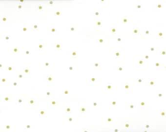 Ombre Confetti Metallic Off White by V & Co for Moda Fabrics (10807 332M) - Metallic Dot Fabric - Polka Dot Fabric - Fat Quarter