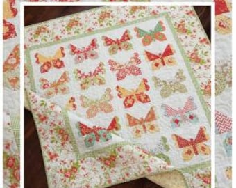 Butterflies Quilt Pattern by The Pattern Basket - Layer Cake Friendly! (TPB1909)