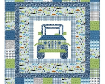 Off Road Quilt Pattern by Kelli Fannin Quilt Designs KFQP129 - Jeep Quilt Pattern