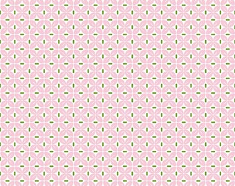 Sew Cherry 2 By Lori Holt  - SALE - Leaf Pink (C5806-Pink) - Lori Holt Sew Cherry 2 - CLEARANCE fabric