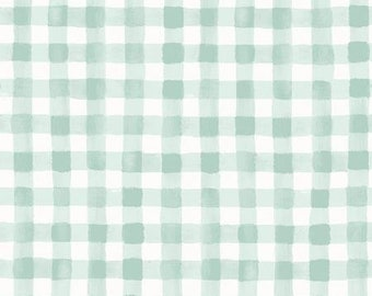 Meadow Mint Painted Gingham by Rifle Paper Co. for Cotton and Steel Fabrics (RP208-MI3) - Cut Options Available