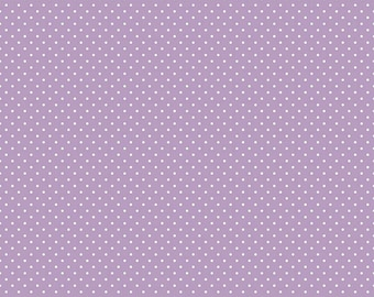 White Swiss Dot on Lavender by Riley Blake Designs (C670 125) Swiss Dot Fabric - Cut Options Available