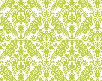 RBD, Medium Damask Lime on White (C820 32)