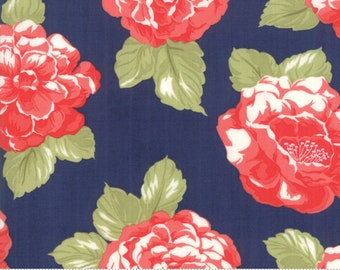 Early Bird Navy Blooms by Bonnie & Camille for Moda Fabrics (55190 15) - Cut Options Available