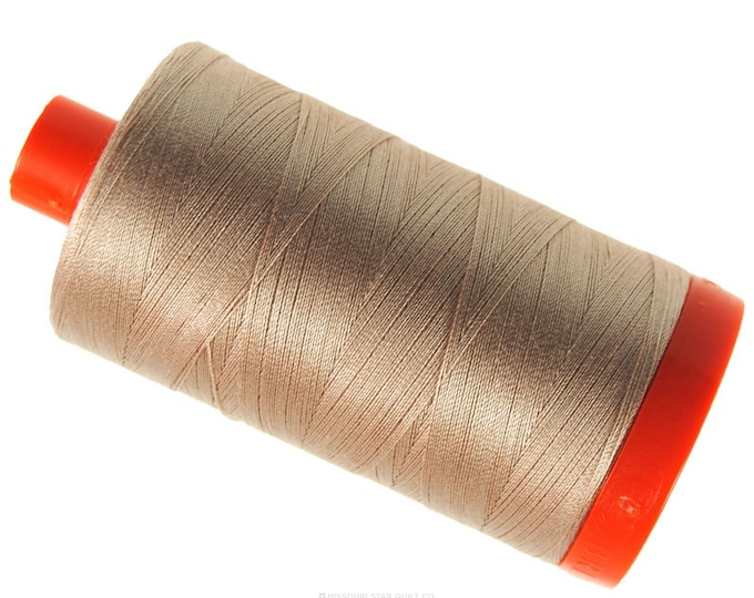 MK50 2314 - Beige - Aurifil Cotton Thread Large Spool (1422 yds)