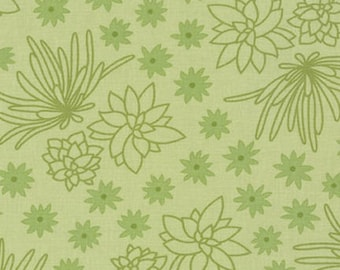 Terrarium SALE (17285-49) Olive Succulents by Elizabeth Hartman - CLEARANCE FABRIC - Closeout