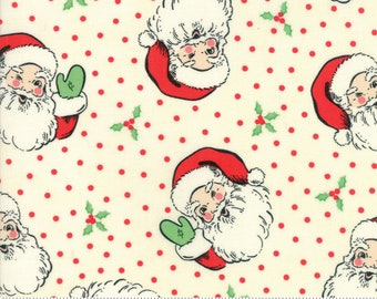 Swell Cream Santa by Urban Chiks for Moda Fabrics  (31120 11)  - Christmas Fabric - Cut Options Available!