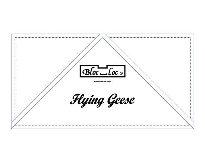 """Bloc Loc - Flying Geese Ruler  5"""" x 10"""" - Quilting Tool"""