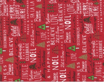 Merry Starts Here - Noel - Red - Sweetwater - Moda Fabrics - Christmas Fabric - (5730 11) - Sweetwater Merry Starts Here