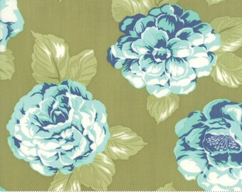 Early Bird Green Blooms by Bonnie & Camille for Moda Fabrics (55190 16) - Cut Options Available