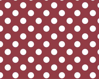 Medium Dots in Burgundy, Riley Blake Designs (C360 55)