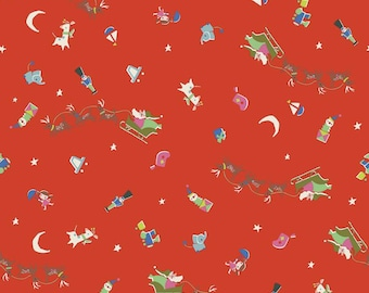 Way Up North Red Flight by Jill Howarth for Riley Blake Designs  (C7322-RED)  - Christmas Fabric - SALE