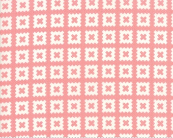 Little Snippets Coral Quilt Blocks by Bonnie & Camille for Moda Fabrics (55184 13) - 1/2 yard piece